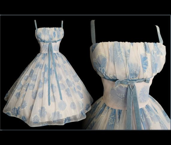 Vintage 1950s Dress //  50s Dress // Lorrie Deb by VintageDiva60
