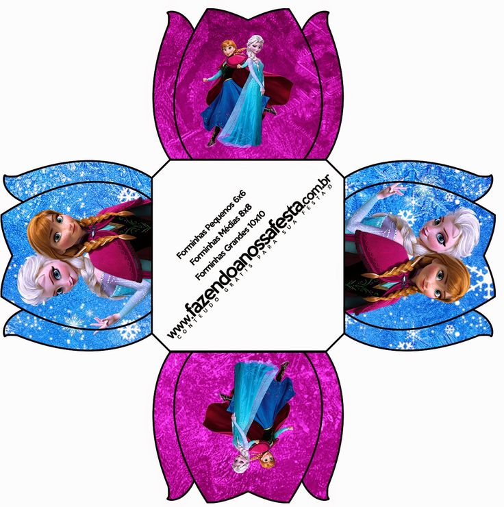 Frozen in Blue and Purple: Free Printable Boxes.   Oh My Fiesta! in english