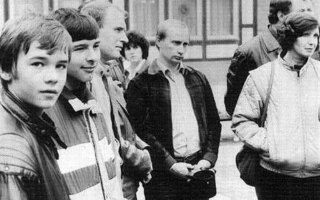 Putin as a KGB agent in East Germany in the 80s. Communism or no, those people have amazing jackets.