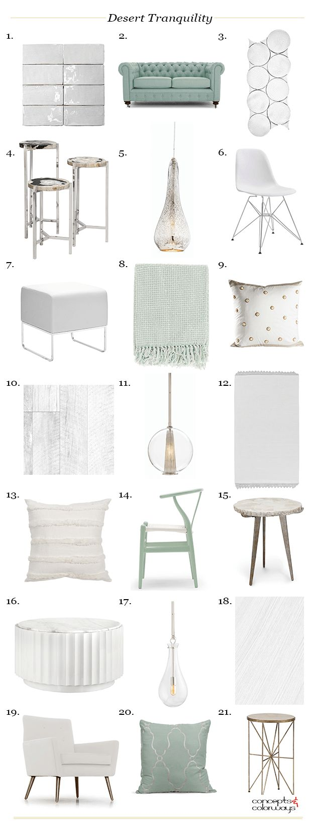 desert tranquility interior product roundup, interior styling ideas, nature inspired interior design, eucalyptus green, sherwin williams kind green, seafoam green, aloe green, pale gray, taupe