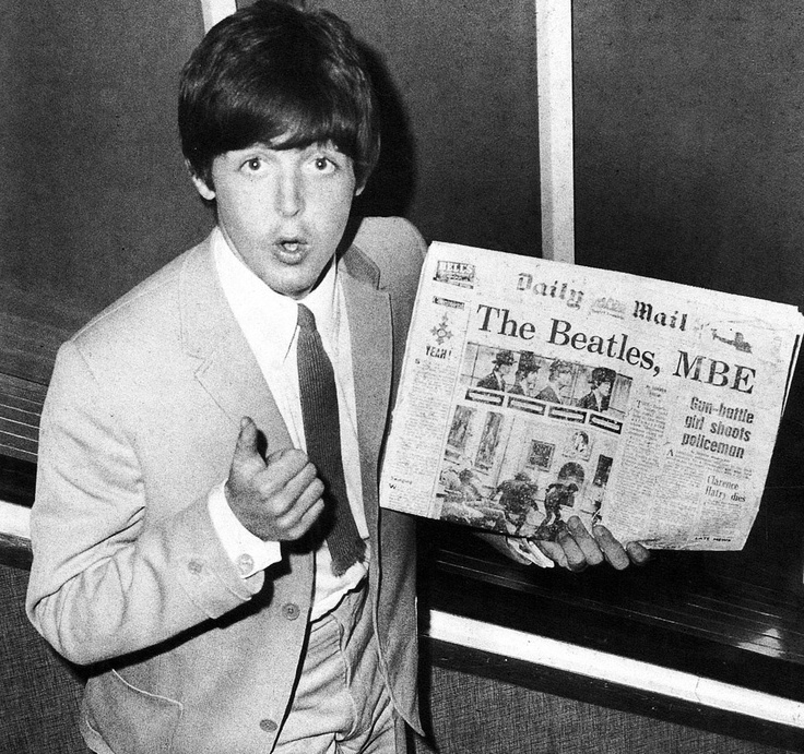 I read the news today oh boy - The Beatles get their MBEs