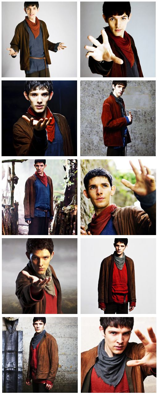 Merlin <3 Love how his outfit only ever swaps the shirt and neckerchief colors