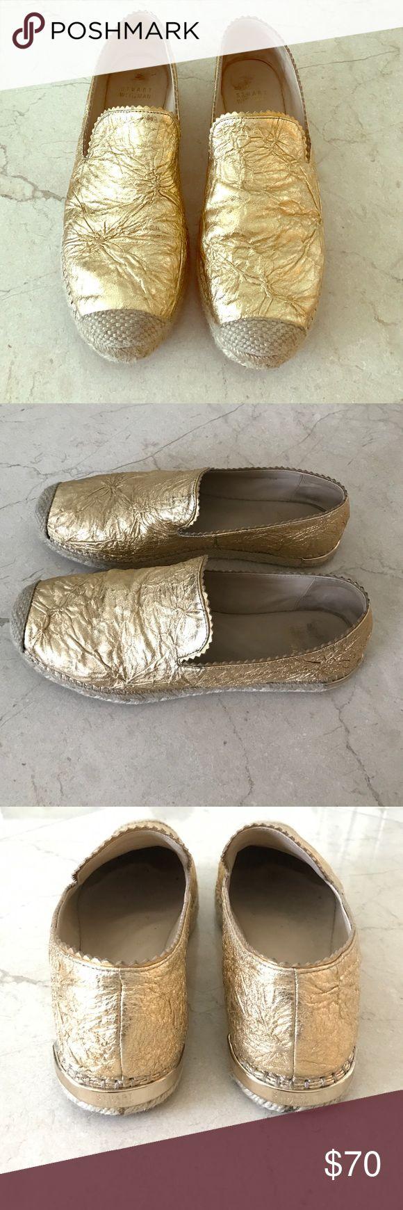 Stuart Weitzman gold espadrilles size 8.5 Stuart Weitzman gold espadrille size 8.5 Stuart Weitzman Shoes Espadrilles
