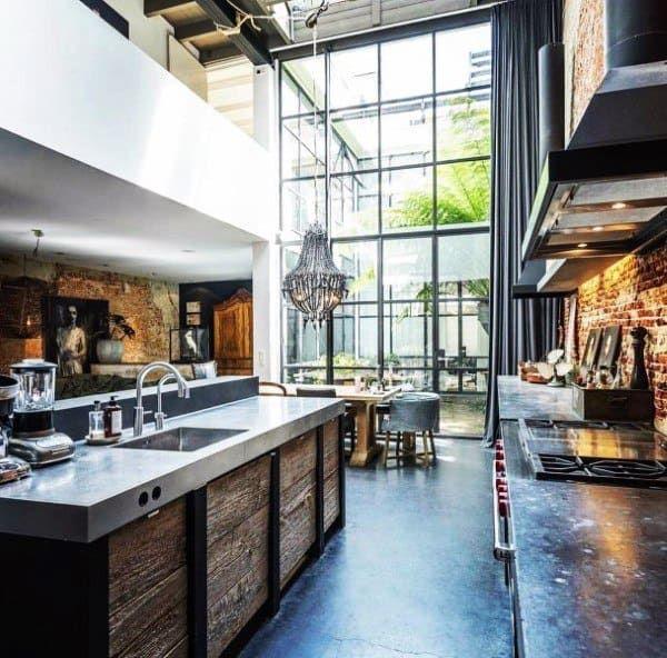 Top 50 Best Industrial Interior Design Ideas Raw Decor Inspiration In 2020 Industrial Interior Design Industrial Interiors Minimalism Interior