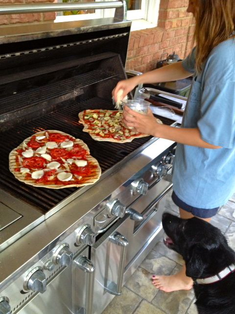 Pizza on the Grill - frozen works great too!
