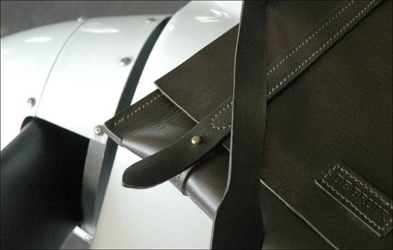 Leather Messenger Bag by Garvan de Bruir.