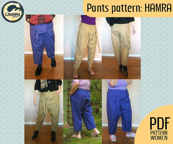 Instant download Thai wrap pants pattern for by GavannaPatterns