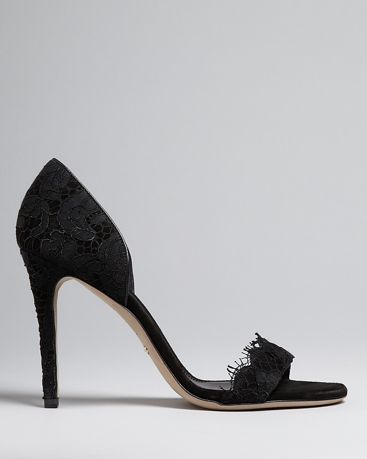 Burberry D'Orsay Lace Evening Pumps. Very Manolo-styled.
