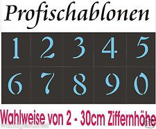 Wandschablone@Ziffernschablonen@Ziffern - arabische Zahlen einzeln 0-9 = 2-20cm