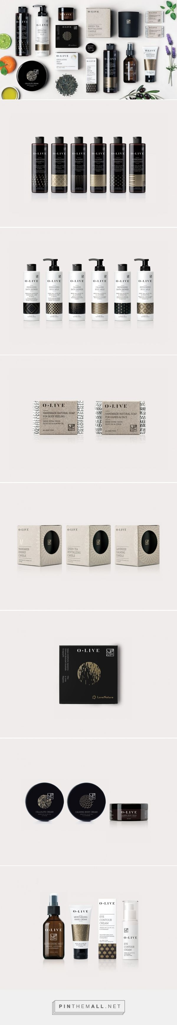 O.LIVE beauty packaging design by Aris Goumpouros - http://www.packagingoftheworld.com/2017/09/olive.html