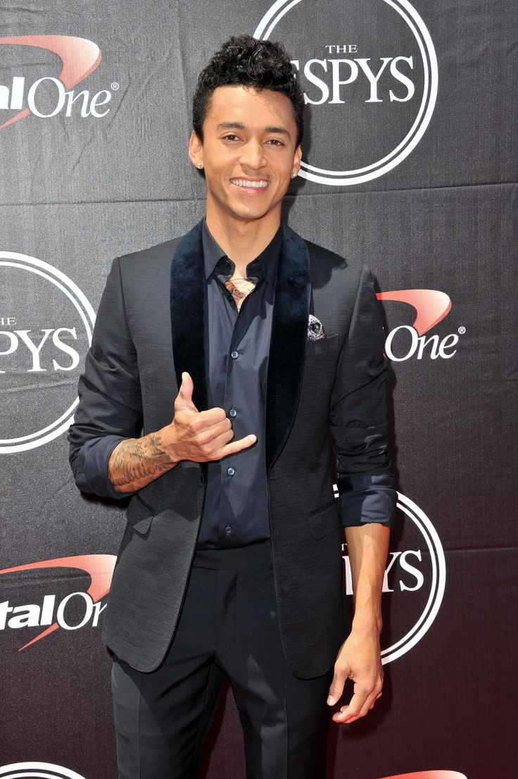 Professional skateboarder Nyjah Huston on the ESPYs red carpet.