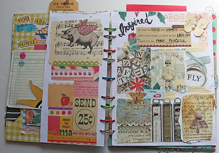 combo smash - art journal with lots of photo!
