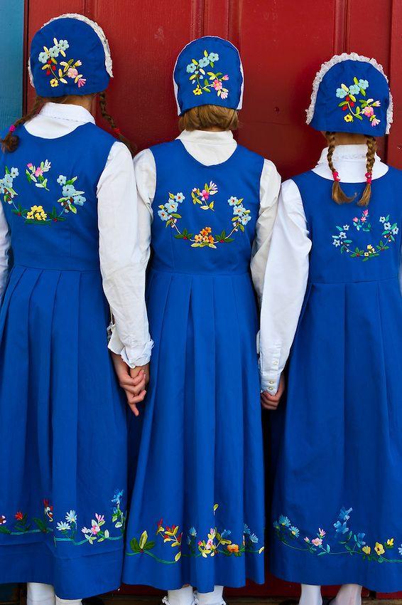 Local girls in Norwegian costume, Sons of Norway Hall, Petersburg, Southeast Alaska USA (by Blaine Harrington III)