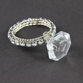 "3""Lx2""Wx1""H ACRYLIC DIAMOND NAPKIN ORNAMENT"