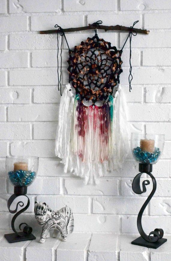Black Mandala Dream Catcher Wall Hanging Authentic