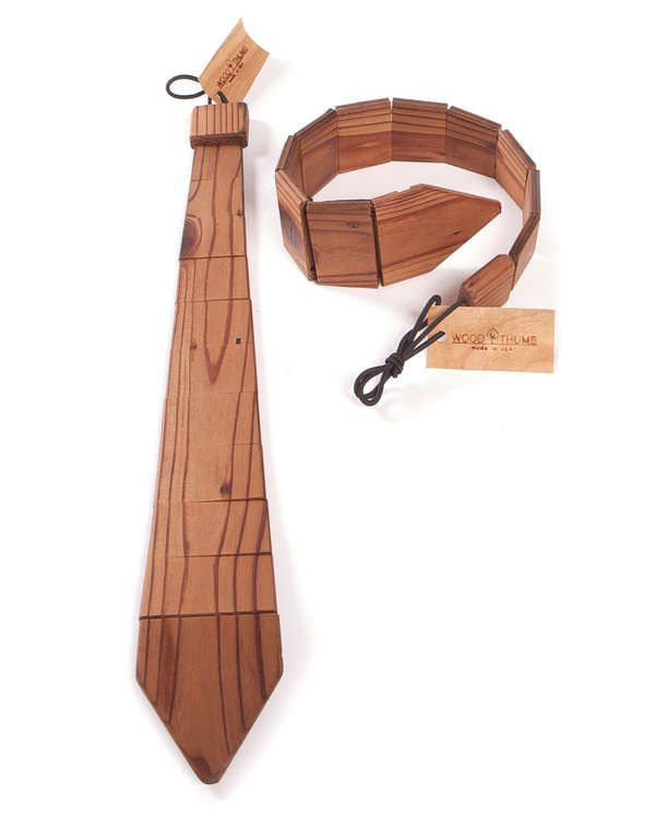 Adorn the Suits with the Quirky But Stylish Wooden Ties #mensfashion #mensaccessories