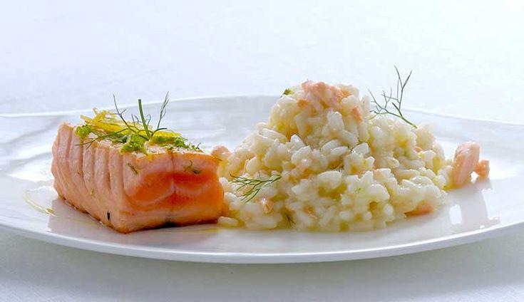 Laks-med-sitron-og-risotto