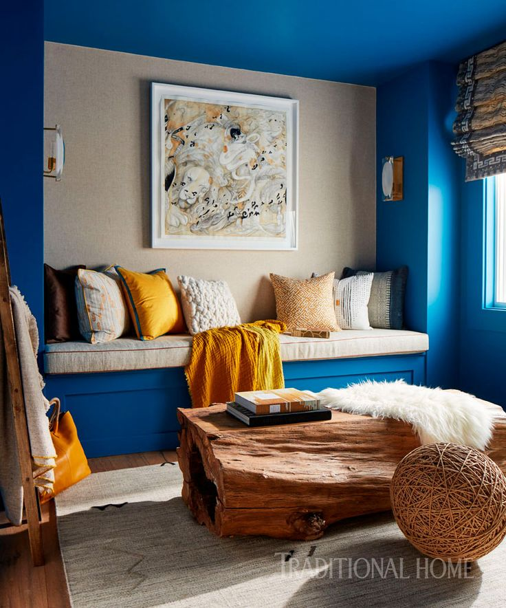 Guest Room Painted Pratt Lamberts Siam Blue 2016 Napa Valley Showhouse