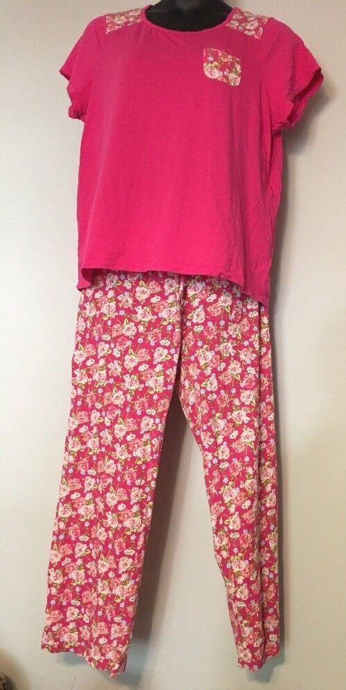 c18f07e94e1e Carole Hochman Heavenly Soft 2 Piece Pajama Set XL Pink Floral Top Bottom  #CaroleHochman #PajamaSets