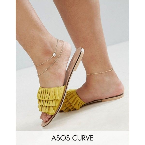 ASOS CURVE Pack of 3 Opal and Chain Anklets ($13) ❤ liked on Polyvore featuring jewelry, gold, plus size, asos curve, party jewelry, opal jewellery, anklet jewelry and chains jewelry