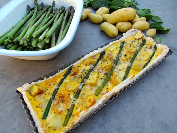 Asparagus and Potato Tart