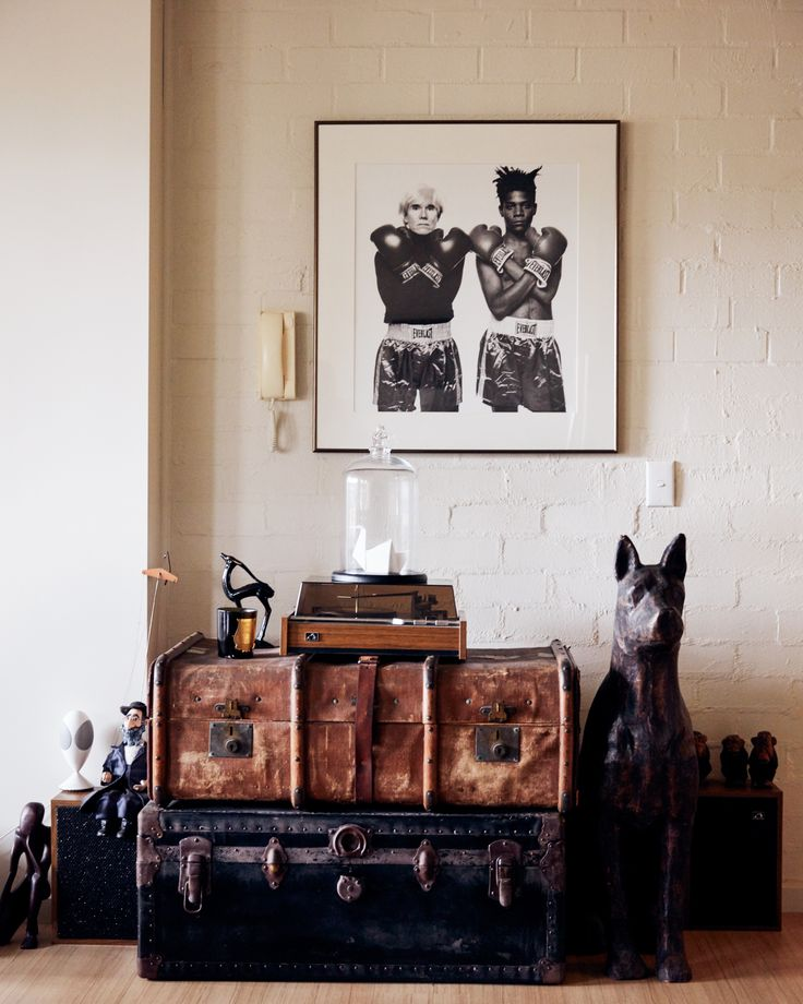 City Edge: Melbourne's Original Urban Village | Assemble Papers by Rachel Elliot-Jones. A painted brick wall in Craig and Christine's split-level apartment. Photo by Tom Ross.