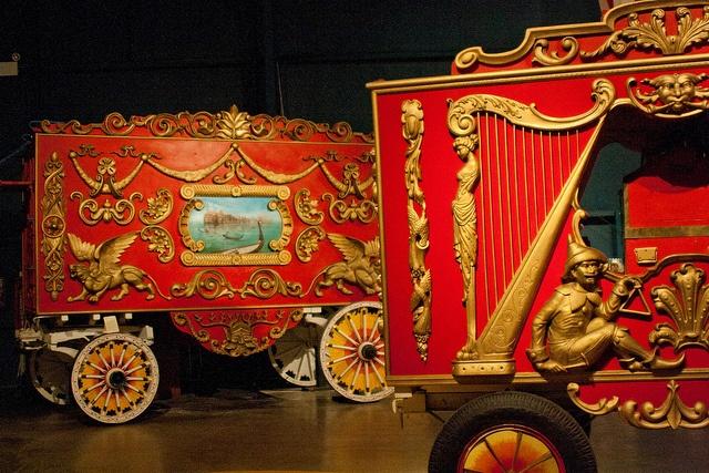 Circus wagon from Ringling circus Musem, Baraboo