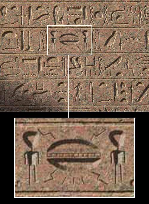 Alien Hieroglyphics in Ancient Egyptian Templ: