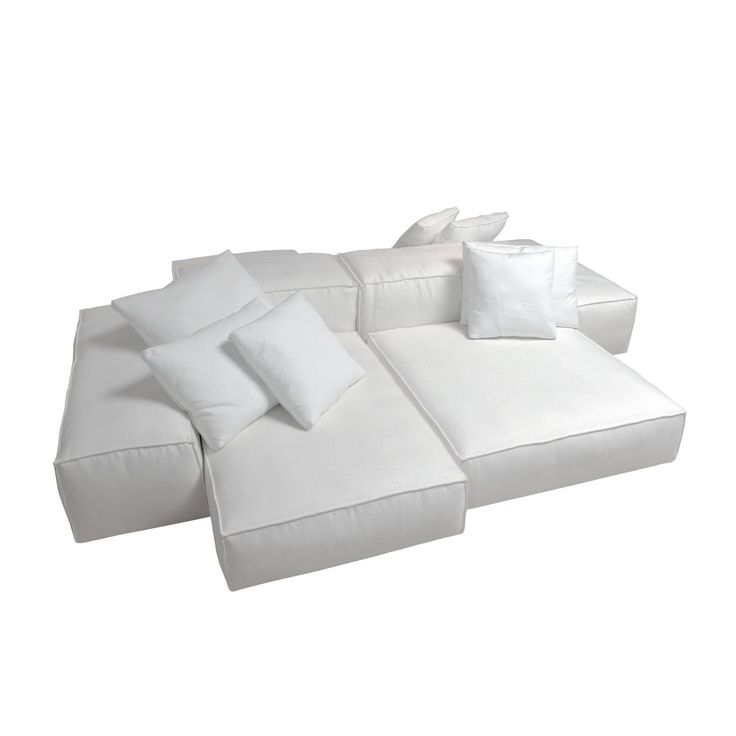 Modular Sofa With Wooden Framing Covered In Foams And Down Wrapped With  Fabric Removable Covers.