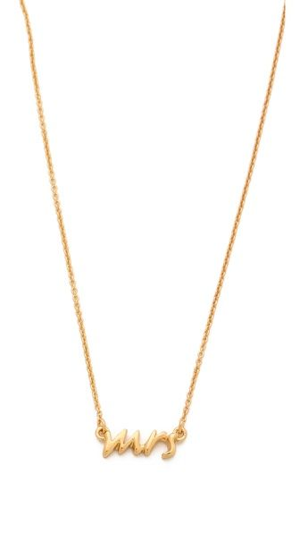 PLEASE PLEASE PLEASE Kate Spade New York Say Yes Mrs. Necklace