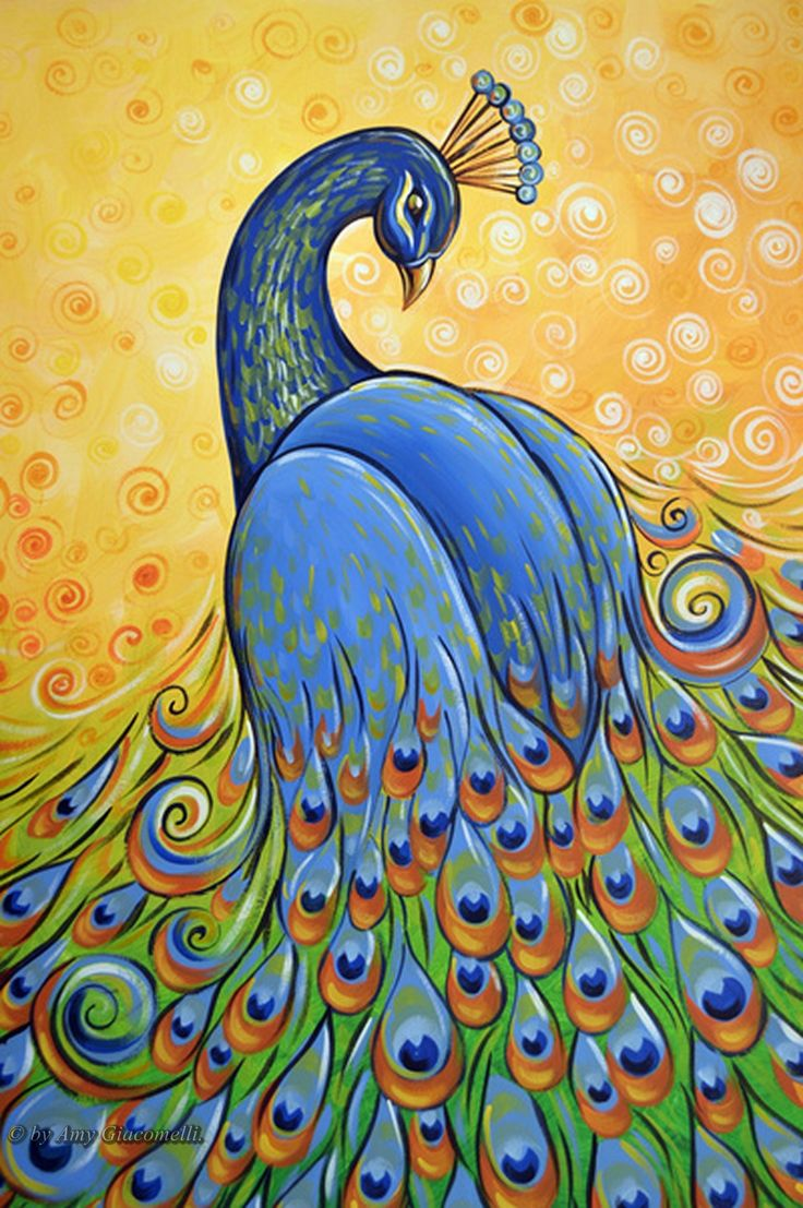 239 Best Images About Peacock-paintings-illustrations On