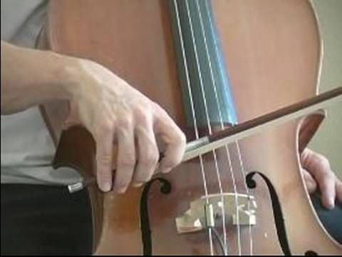 How to Play the Cello : How to Position a Cello Bow