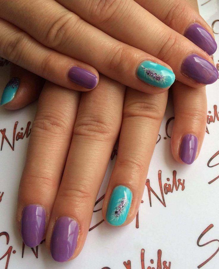 Mejores 81 imágenes de Purple Nails en Pinterest | Bonitas, Color y ...
