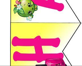 free shopkins birthday party banner printable file