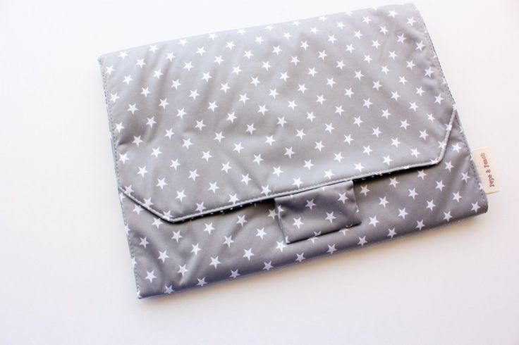 Baby change pad, changing pad, travel mat, with nappy pocket and velcro latch for tight and secure storage