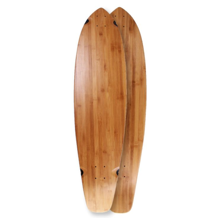 "40"" x 10"" Kicktail Blank Deck Bamboo (#BK40)"