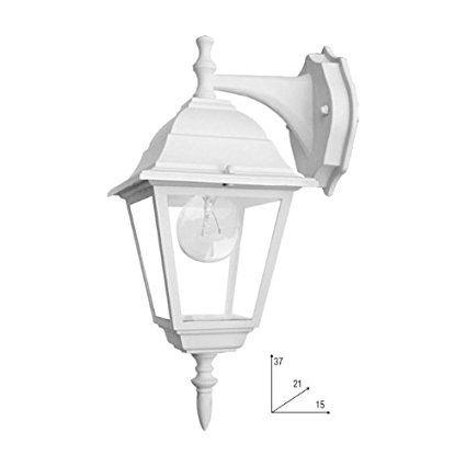 Applique in basso  lampada da parete a lanterna da esterno bianco