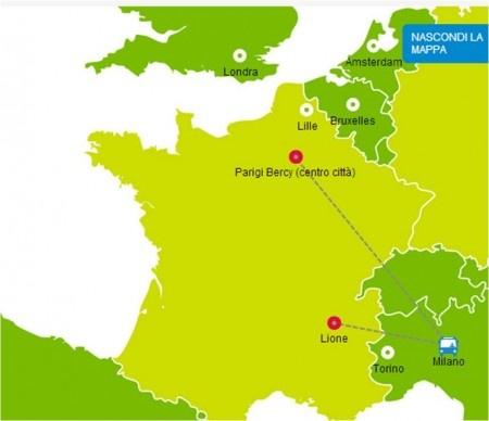 Collegamenti in pullman da Milano a Parigi Bercy con iDBUS. Sedili confortevoli, accesso WI-FI e biglietti economici. Il modo intelligente di viaggiare