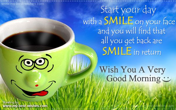 Cute Good morning greeting card or e card