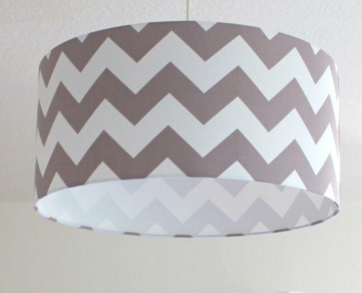 Lampenschirme - ★Chevron ★ Lampenschirm 50 cm - ein Designerstück von Frl-Lampe bei DaWanda
