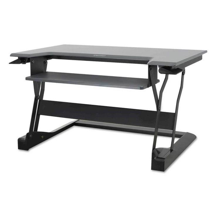 Ergotron WorkFit-T Desktop Sit-Stand Workstation - Black