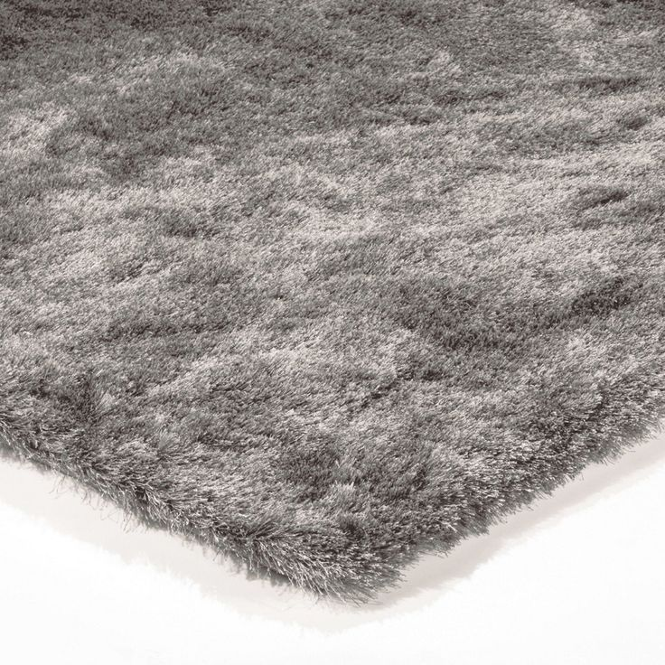 This Whisper Fabric Rug Has A Silver Sheen And Rectangular