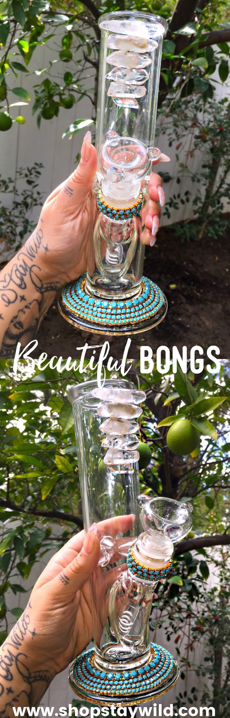 Beautiful bongs from www.shopstaywild.net✨#love #home #ideas #things #idea #marijuana #cannabis #stoned #high #cannabiscures #legalize #420 #710 #wax #shatter #glass #vape #style #ideas #ganja #kush #cbd #bath #smoke #bongbeauties #alien #ganjagirls #potprincess #bakedbarbie #stonergirl #stoner problems #weed humor #funny #cool