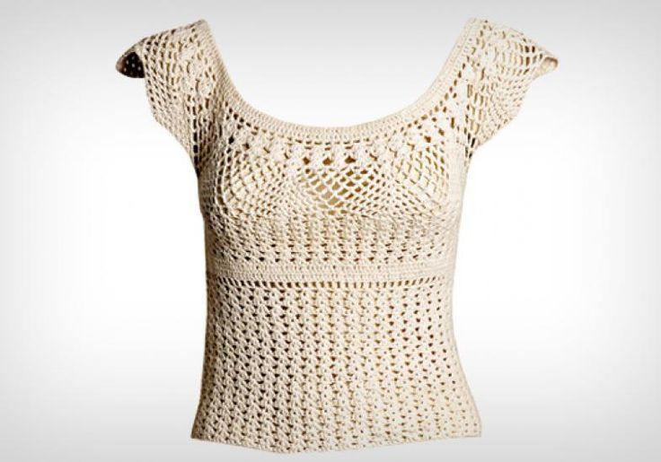 Como fazer uma blusa de crochê fresquinha