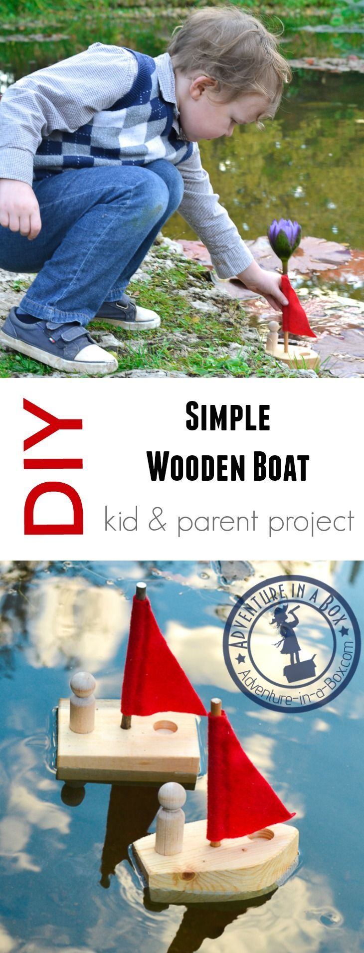 DIY Woodworking Ideas DIY Simple Wooden Toy Boat: Woodworking for Kids