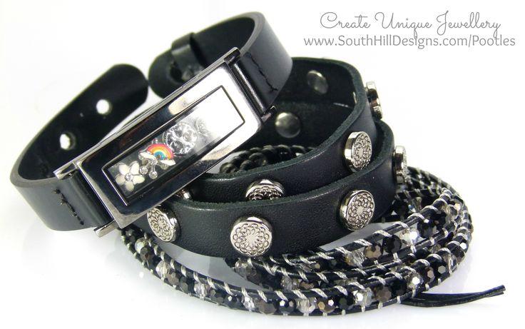 South Hill Designs - Graphite Locket Bracelet Showcase