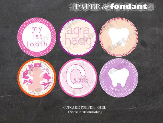 PRINTABLE TOPPER CIRCLES Agra Hadig / First by PaperAndFondant