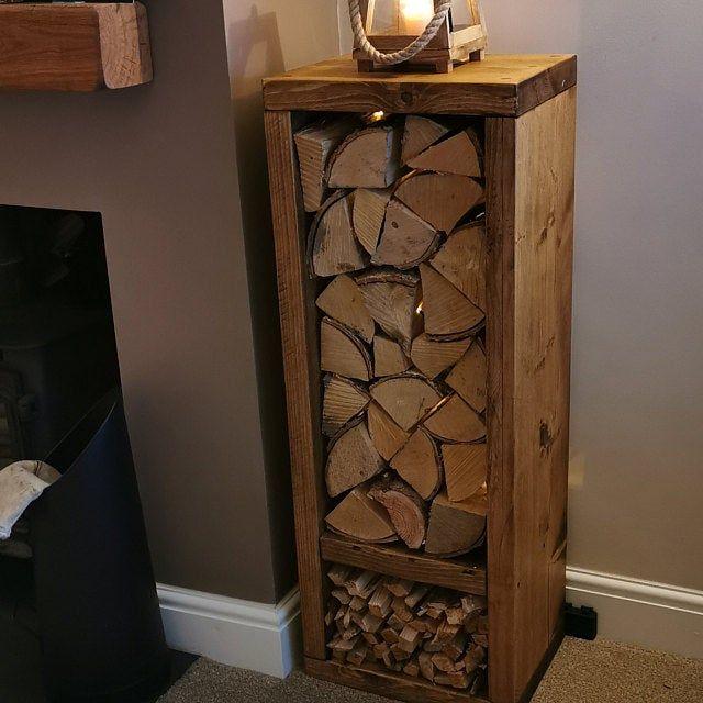 Log Store Indoor Log Holder Log Basket Wood Burner Log Etsy In 2020 Indoor Log Holder Log Store Indoor Firewood Storage Indoor