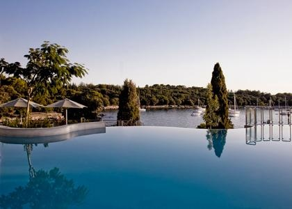 Infinity pool with a view at Hotel Monte Mulini, Rovinj, Croatia
