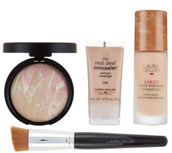 Laura Geller Foundation Wardrobe 4 pc Complexion Collection - A280837